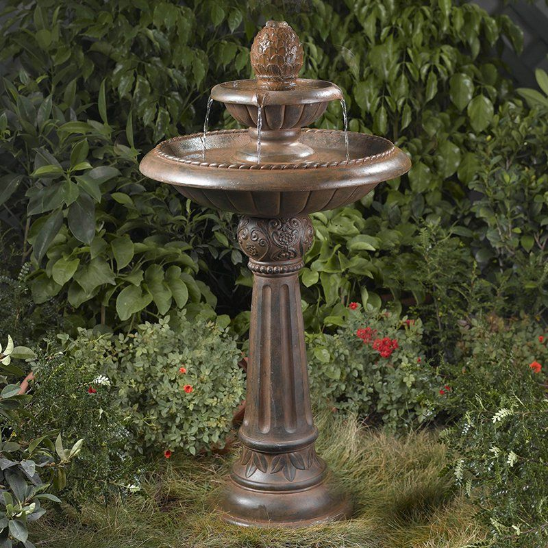 Have To Have It Ananas Pineapple 2 Tier Garden Outdoor Fountain 190 Hayneedle Garden Water Fountains Bird Bath Fountain Fountains Outdoor