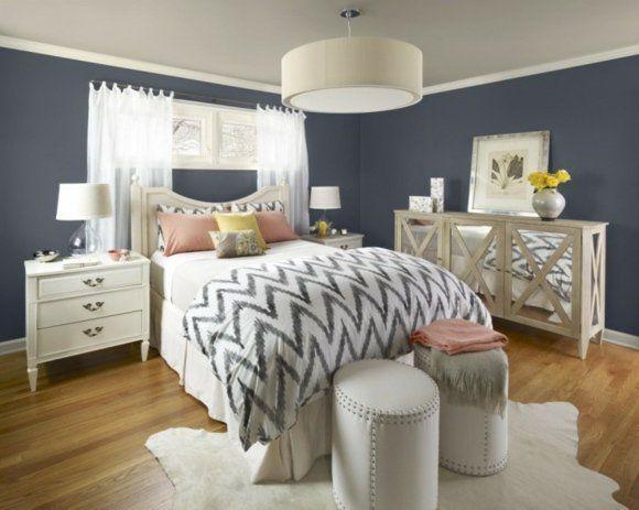 Idée couleur chambre - la chambre à coucher en gris Bedrooms - couleur de la chambre