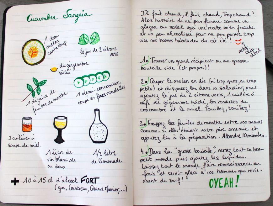 Sangria Piquante verte / Spicy green sangria