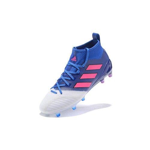 Adidas ACE - Negozio Adidas ACE 17.1 FG Bianco Blu Scarpe Da Calcio Adidas  Football, 9d50260b3189