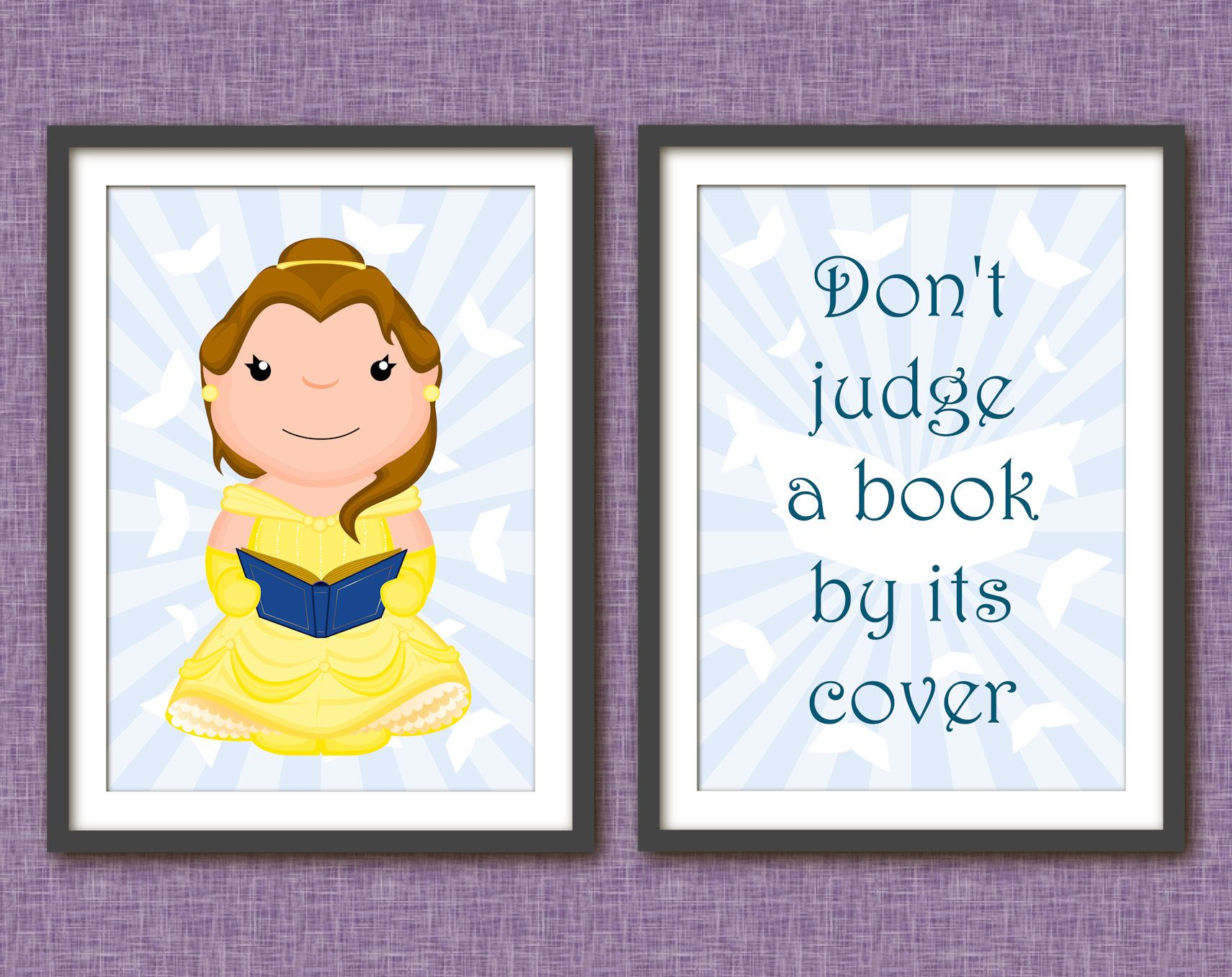 Beauty and the beast belle poster disney princess printable wall art