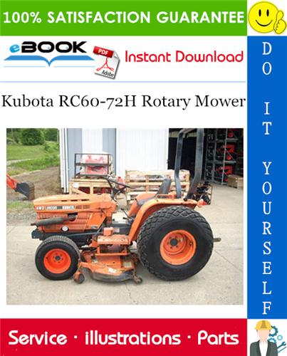 Kubota Rc60 72h Rotary Mower Parts Manual Rotary Mower Kubota Mower