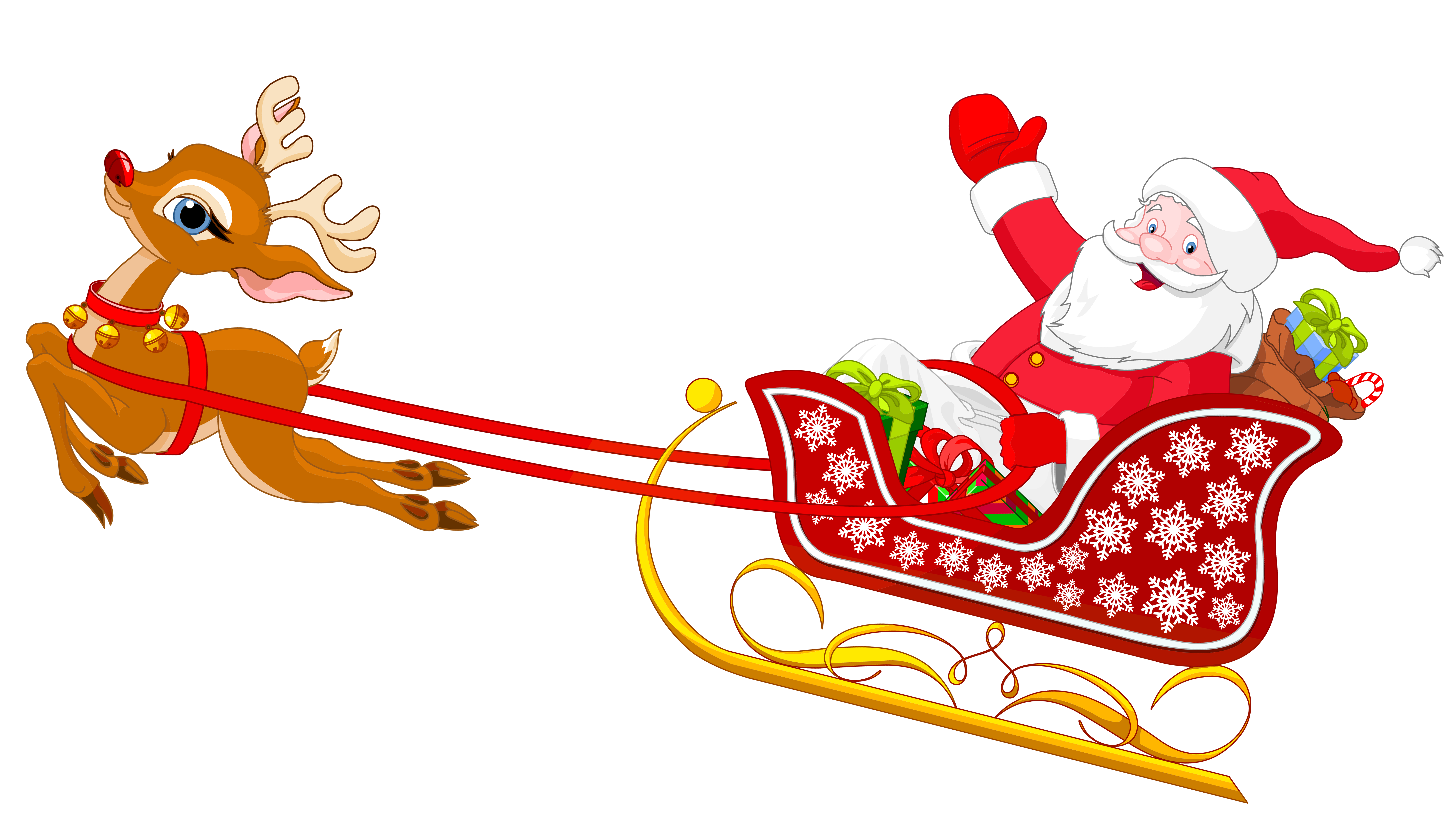 santa and reindeer with sled png clipart pinterest santa rh pinterest com free santa and sleigh clipart clipart of santa and his sleigh