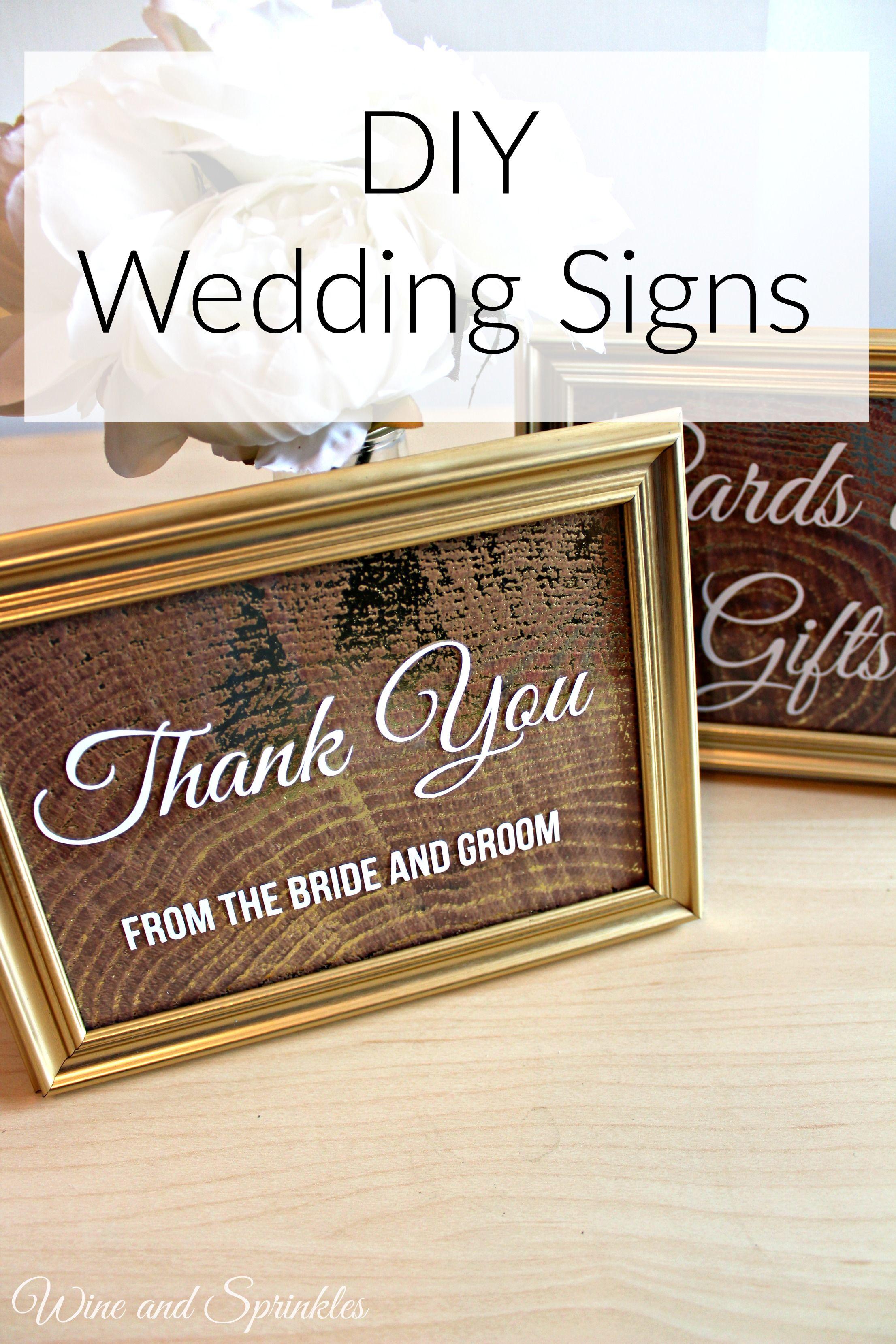 Easy diy wedding signs white vinyl scrapbook paper and favors easy diy wedding signs solutioingenieria Image collections
