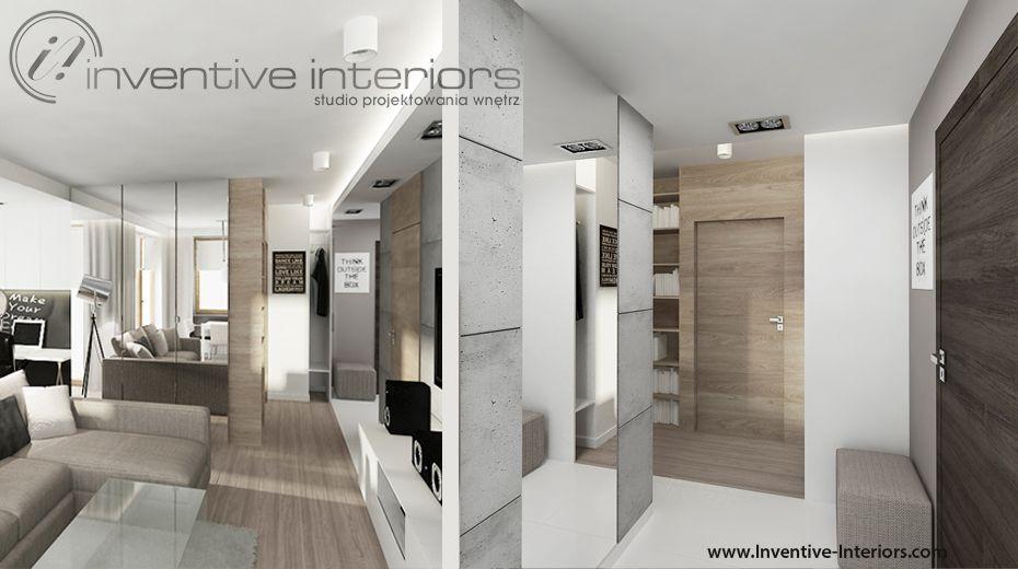 Projekt Przedpokoju Inventive Interiors Beton I Jasne