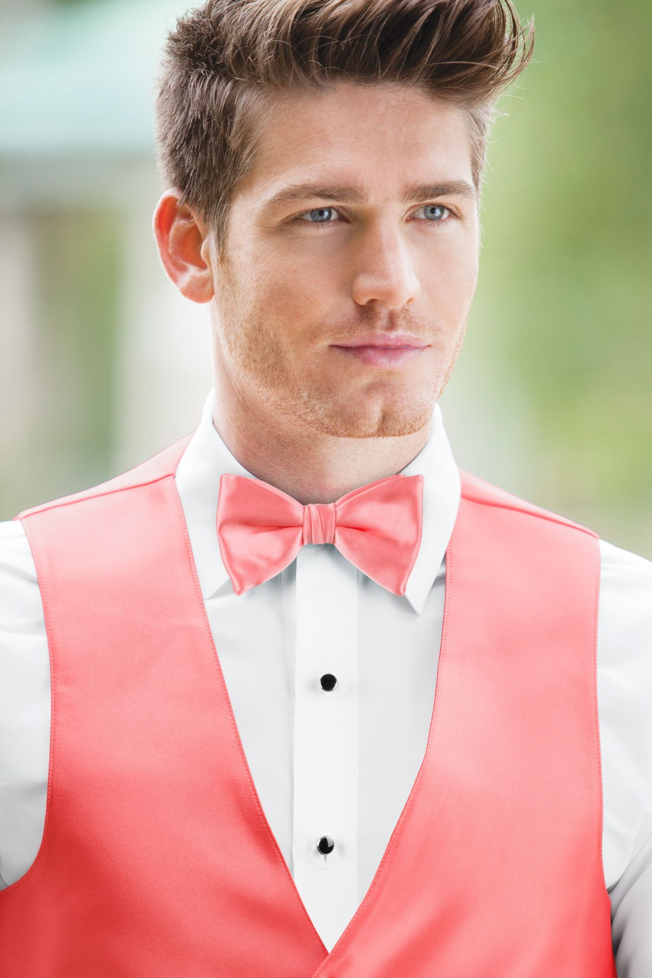 Expressions Dark Coral Bow Tie | Jim\'s Formal Wear | Wedding Day ...