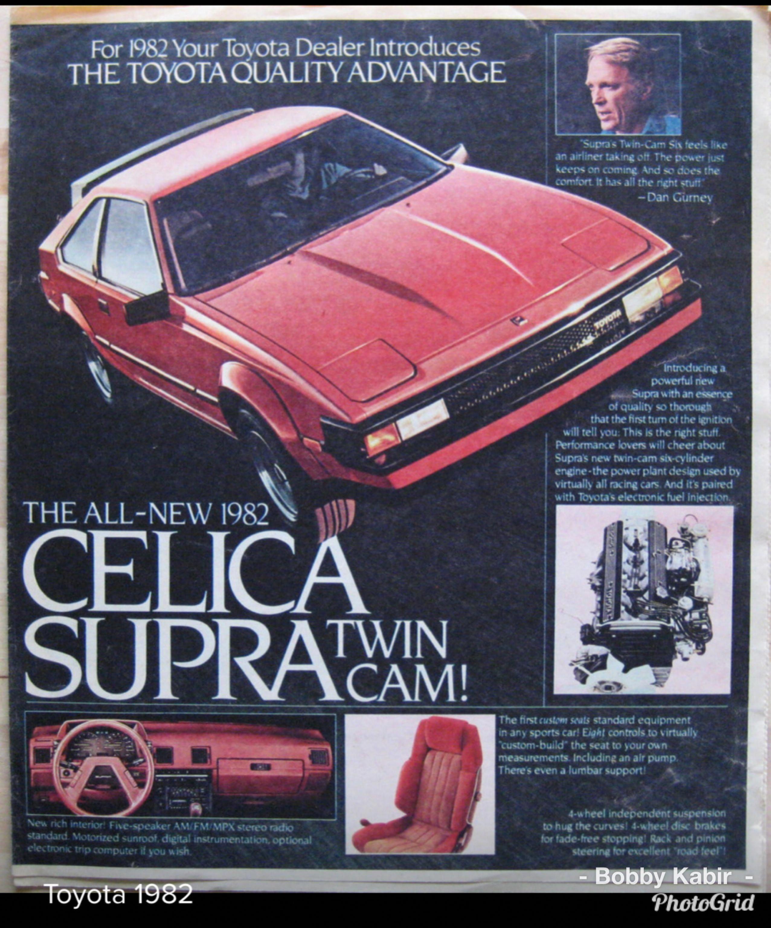 1982 Toyota Celica Supra Ad Toyotaclassiccars Toyota Classic Cars Toyota Celica