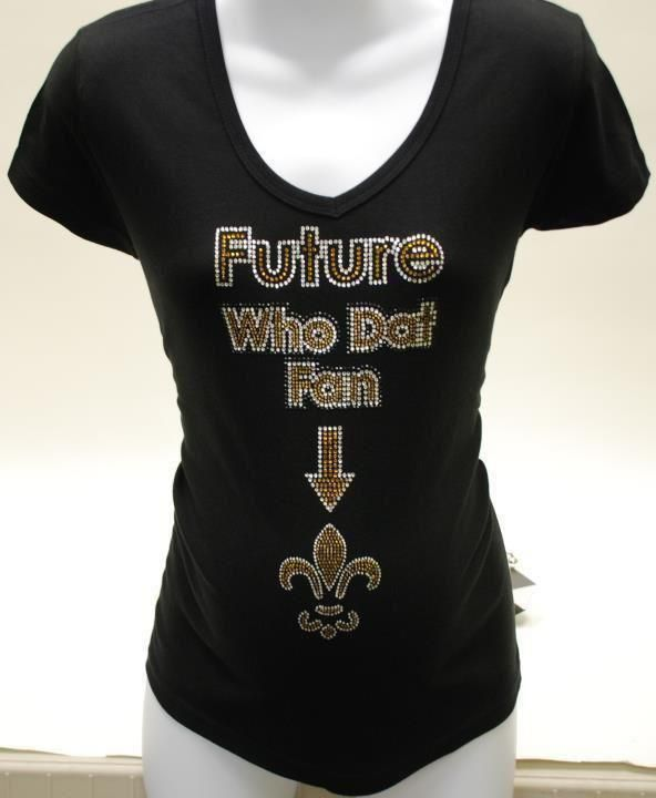 Saints Fan Favorite The Future Who Dat Fan Shirt for Maternity in Sizes S-XL 0561dbb3a