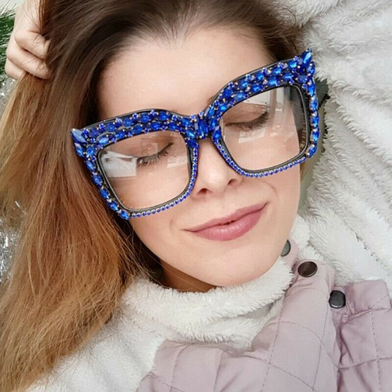 796d444f096 NEW Oversized Square Frame Rhinestone Style Sunglasses Women Fashion Shades  2019  Unbranded  Square