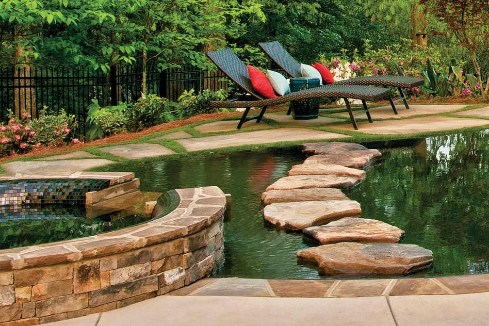 create an oasis in your own backyard with a pool and spa atlanta