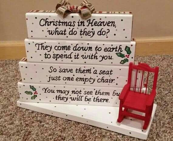 makes me think of a few chairs left empty miss them all christmas in