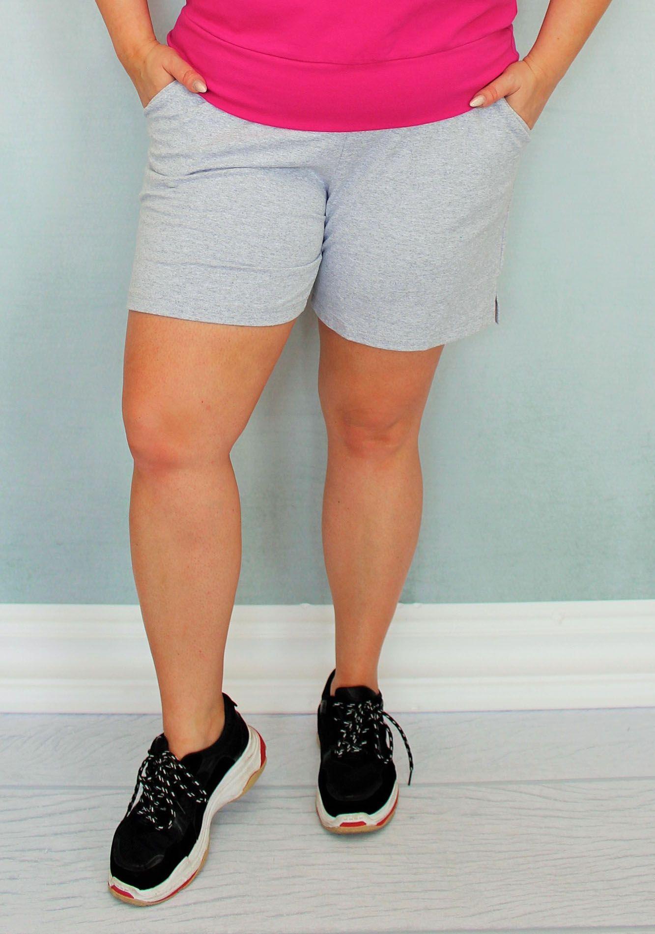 Spodenki Zosia Szorty Krotkie Dzianinowe Szare Gym Shorts Womens Gym Women Womens Shorts