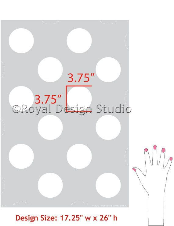 paint your walls with cute polka dots and circle shapes royal
