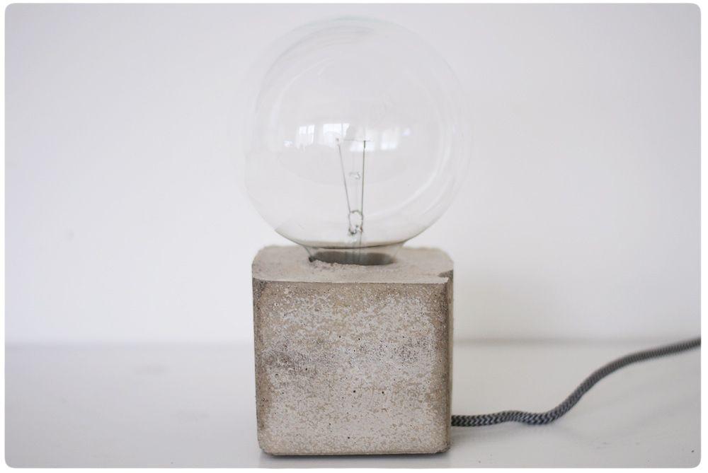 DIY – concrete light // Pastill.nu (translation needed)