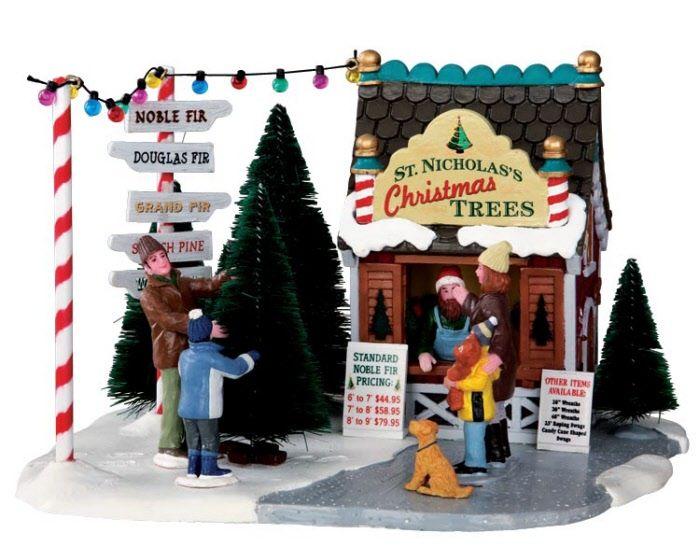 Lemax Village Collection St. Nicholas\'s Tree Lot # 33001 $22.49 ...
