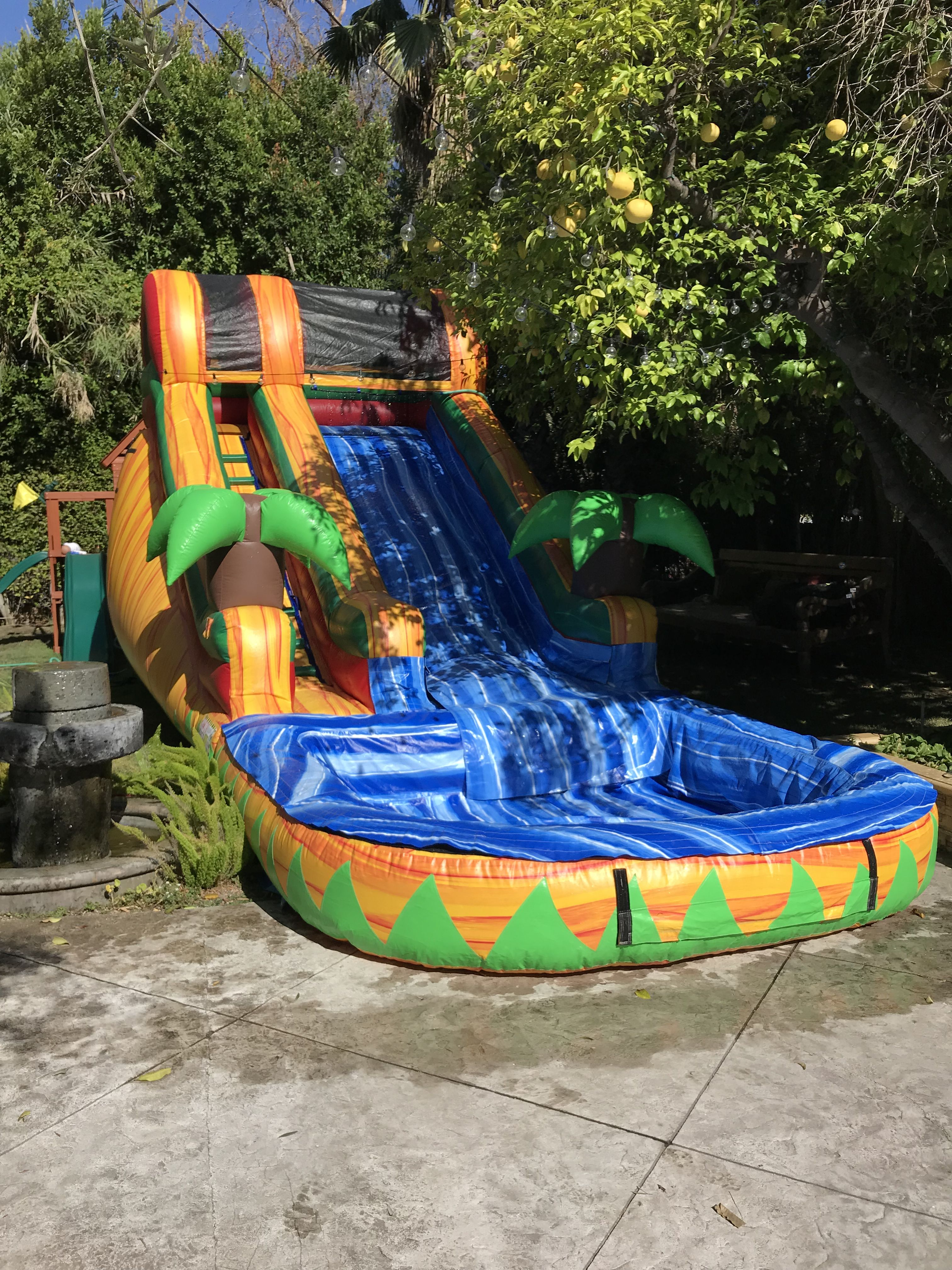 14ft Tropical Water Slide only in Lit Party Rentals ...