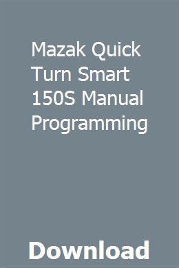 Smart Mazak Manual