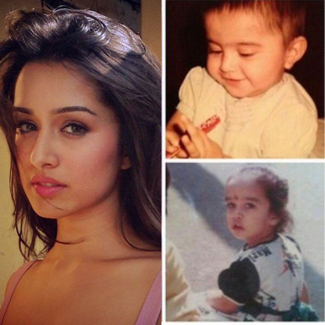 Cute Childhood Photos Collection Of Bollywood Stars Childhood Photos Bollywood Stars Shraddha Kapoor Cute