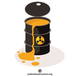 PublicDomainVectors.org-Barrel of toxic waste (With images ...