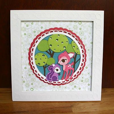 Cindy Loo Cricut - framed art - could be cute gift for a