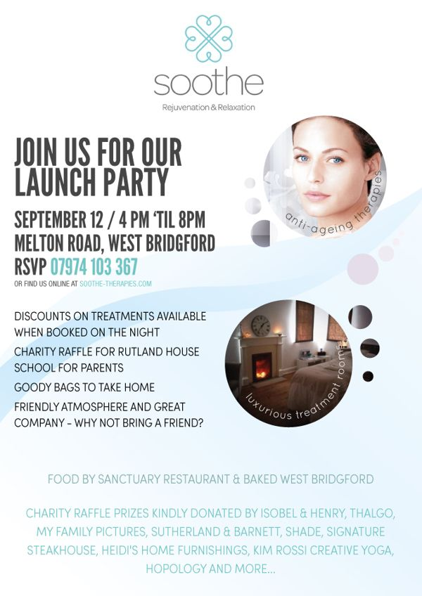 soothe spa launch event on behance