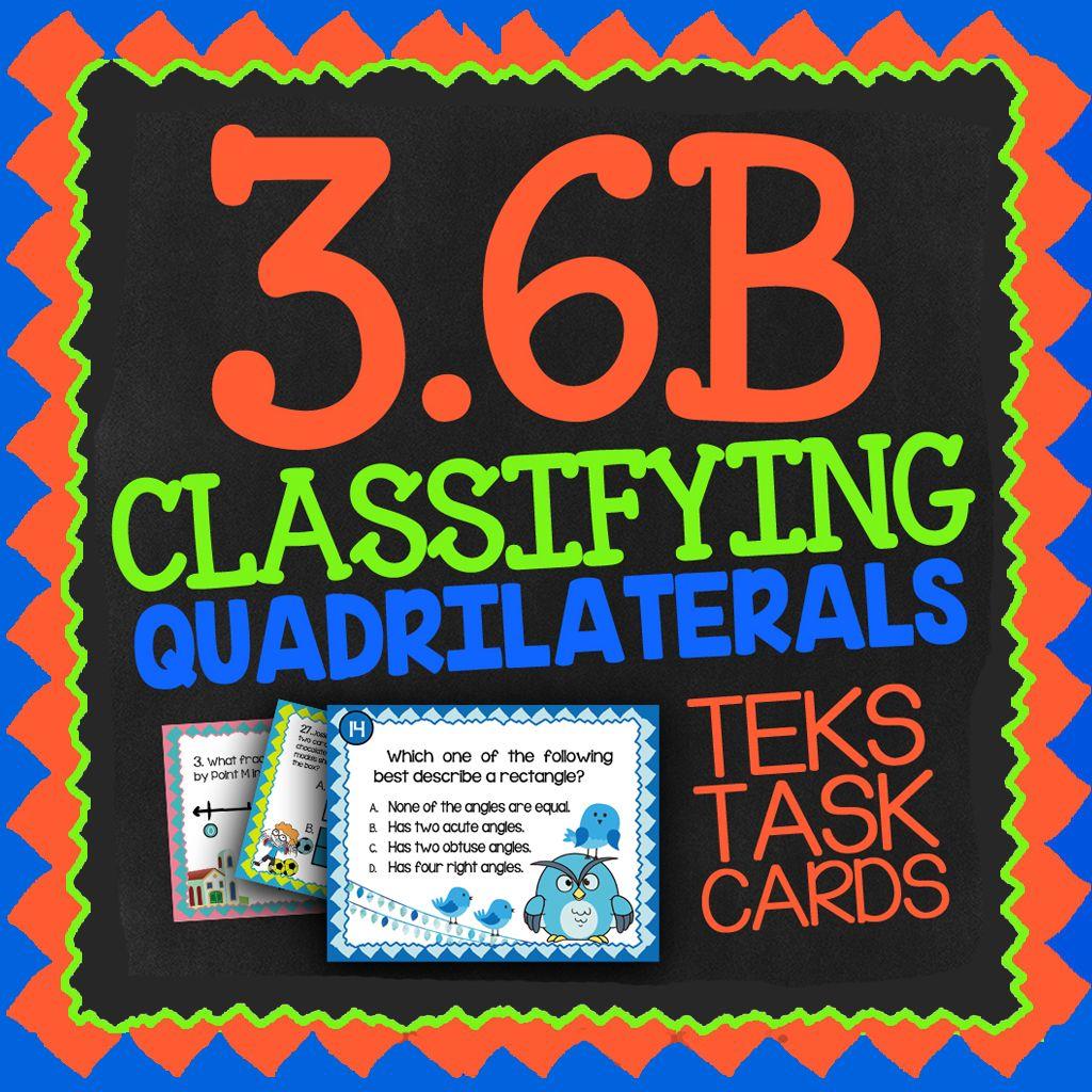 Math Tek 3 6b Classifying Quadrilaterals 3rd Grade