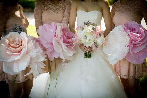 Giant Paper Flowers Rose Peony Perfect For My Wedding Bridesmaids