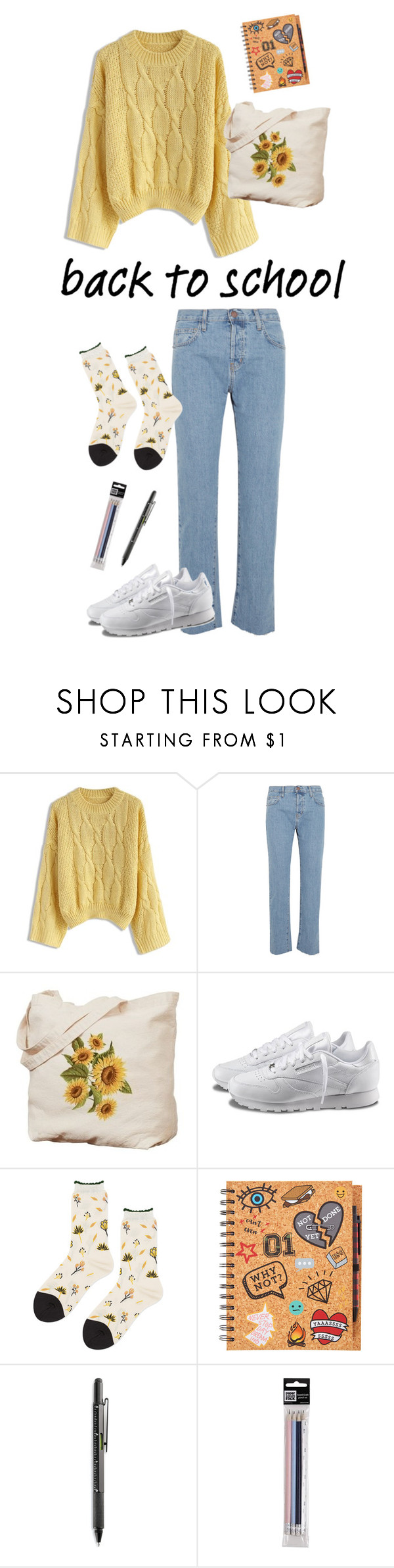 """47."" by olinka1408 ❤ liked on Polyvore featuring Chicwish, Current/Elliott, Reebok, Hansel from Basel and Brookstone"