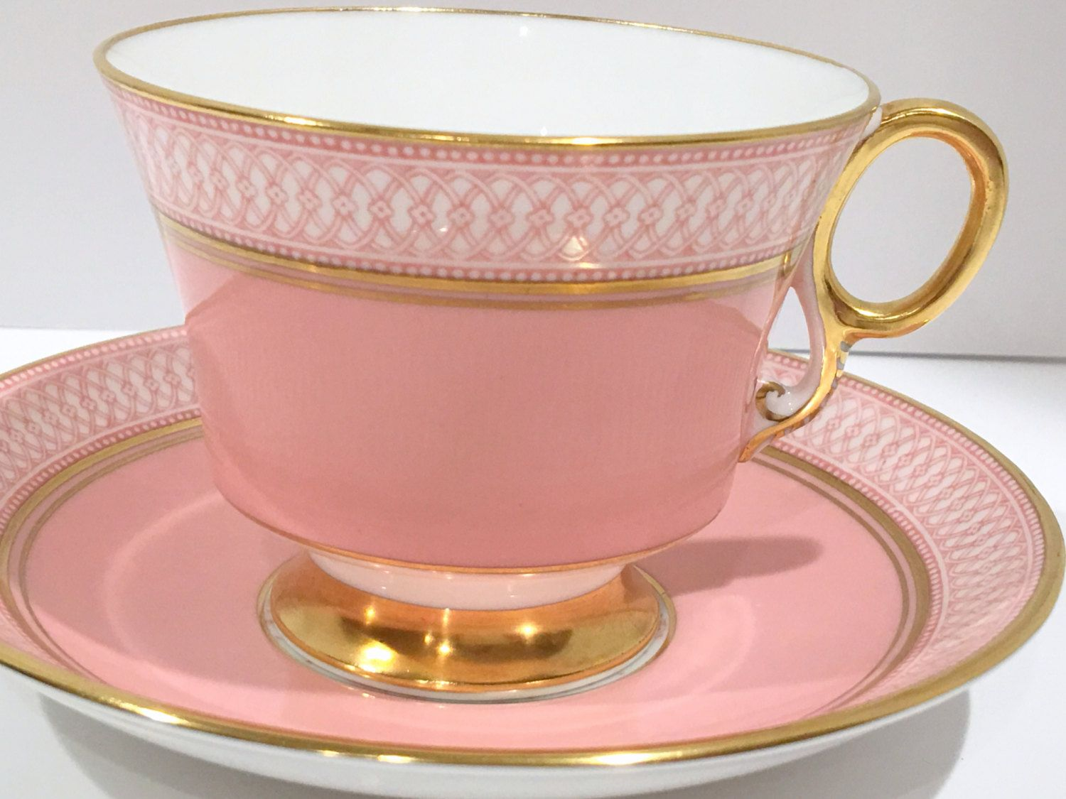 Royal Adderley Tea Cup And Saucer Pink Teacups Antique Vintage