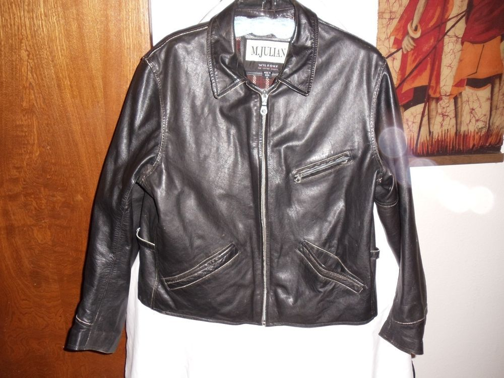 M. Julian Wilson's Leather black leather Mn's jacket Sz M
