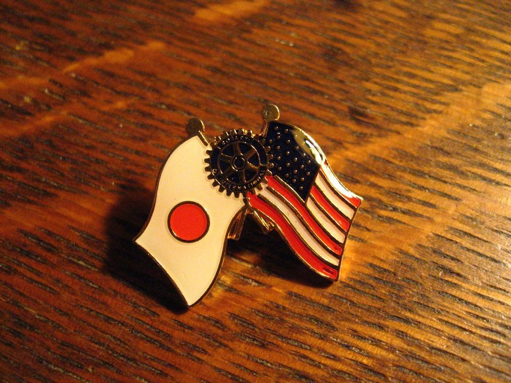 Japan Usa Rotary Club Lapel Pin American Japanese Flag International Hat Pin Lapel Pins Hat Pins Japanese Flag