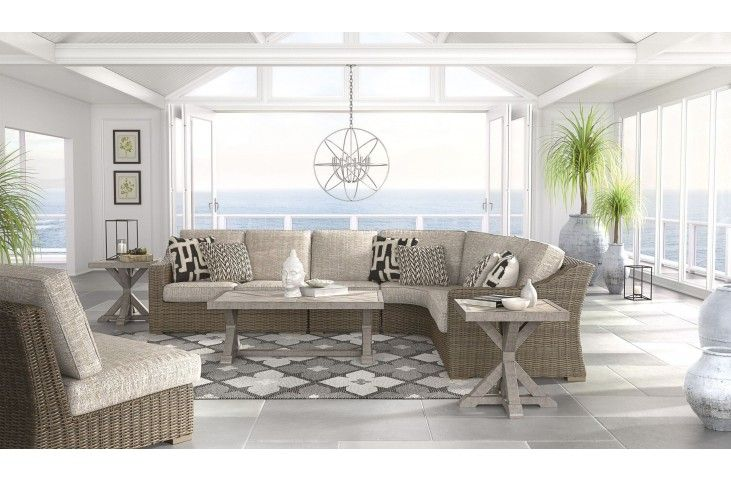 Pin on Screen Porch Furniture on Beachcroft Beige Outdoor Living Room Set  id=49255