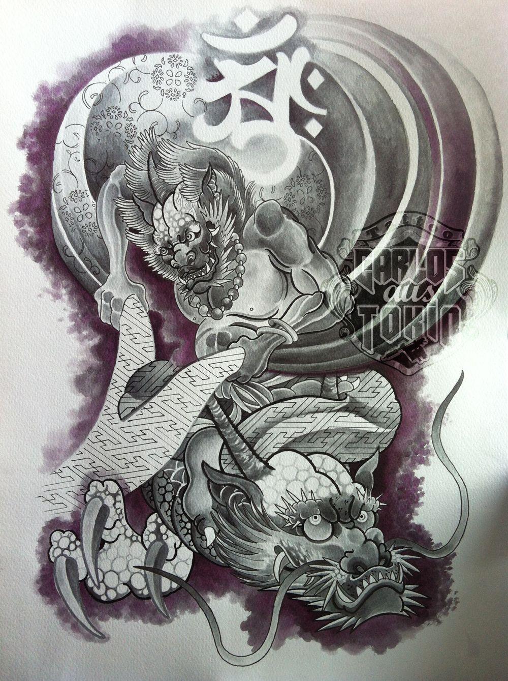 God Of War Tattoo Top Japanese Water God Images For Pinterest Tattoos Hinh Xăm Nghệ Thuật Nhật Bản Hinh Xăm Phượng Hoang