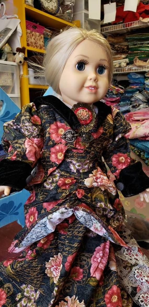 Doll clothes dress Victorian style skirt jacket blouse black | Etsy #dollvictoriandressstyles