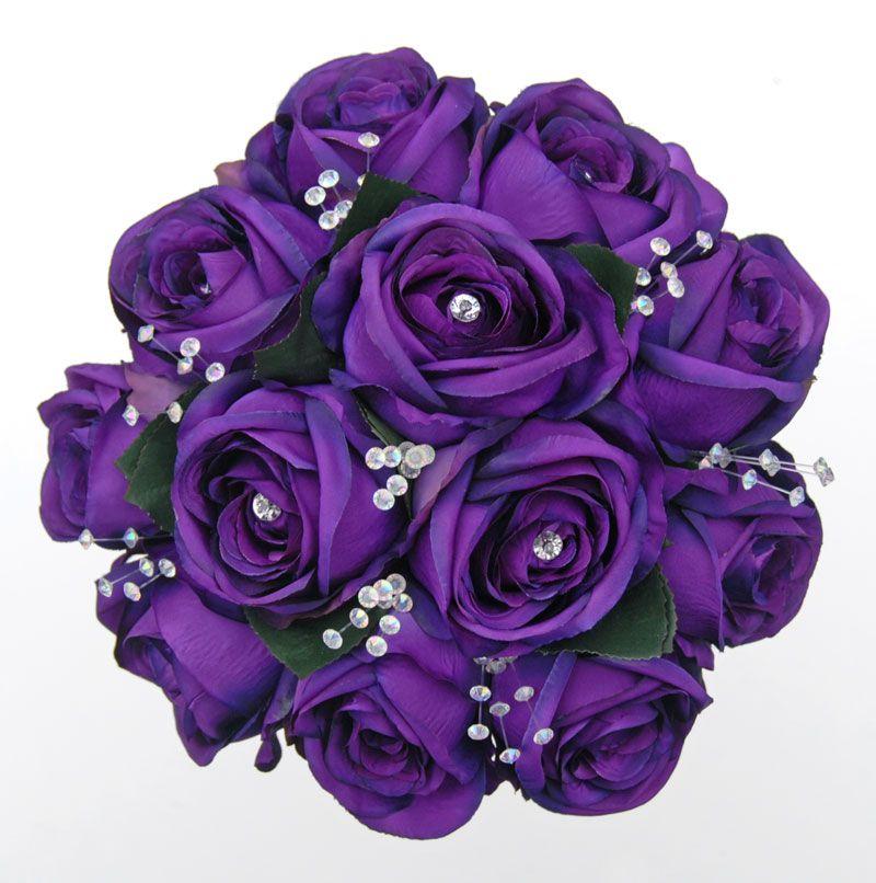 Букет фиолетовых цветов, собрать