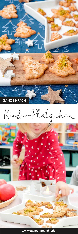 Einfache Ausstechplätzchen für Kinder mit Mandeln und Pistazien #kekseweihnachtenkinder