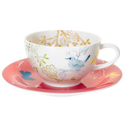Portmeirion Dawn Chorus Teacup & Saucer,