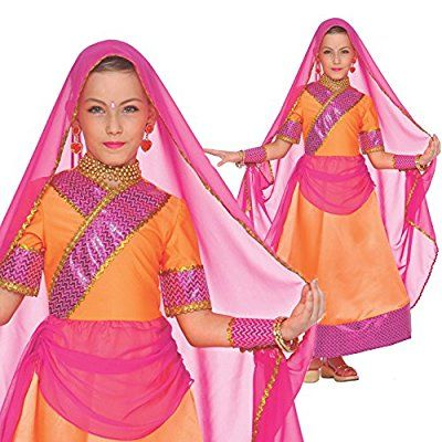 Girls Indian Bollywood Hindi Fancy Dress Costume High Quality