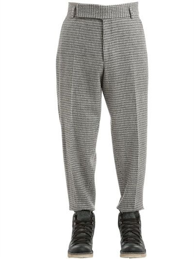 a91ed09e44 Z ZEGNA 19Cm Wool Blend Houndstooth Pants, Grey/White. #zzegna ...