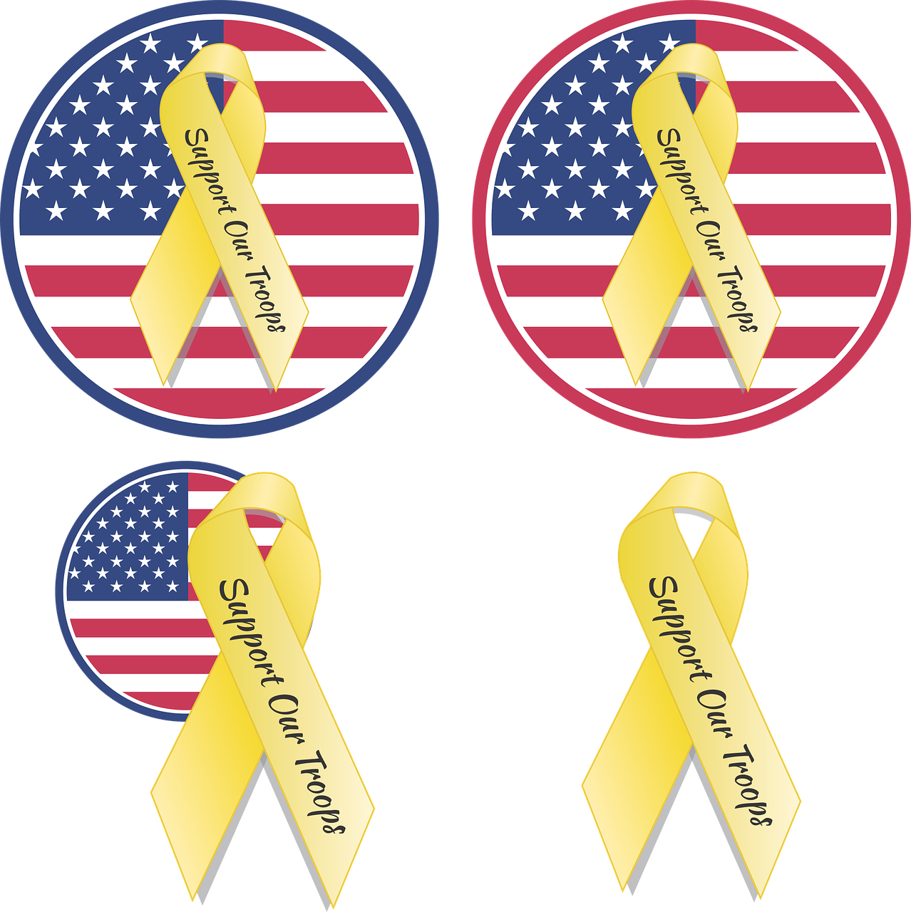 Vacation, Ribbon Soldier Support Troops Navy Army Ma