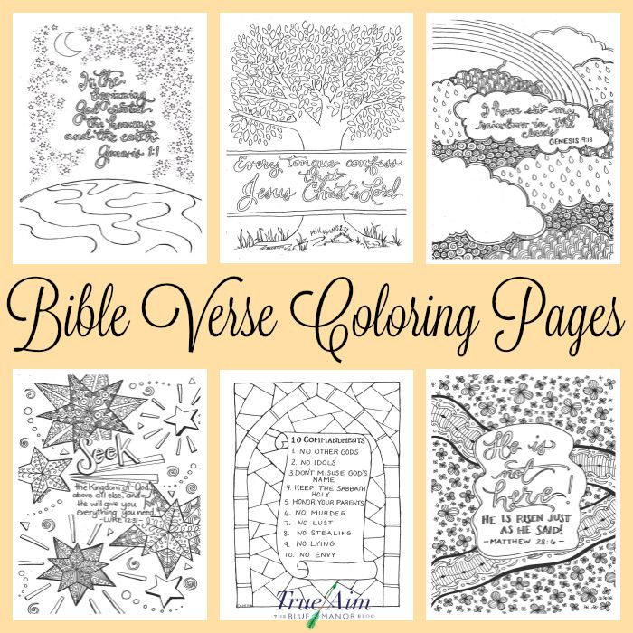 6 Bible Verse Coloring Pages | Free printables