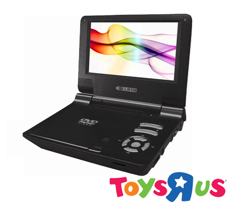 """7"""" Black Portable DVD Player with Car Kit"""