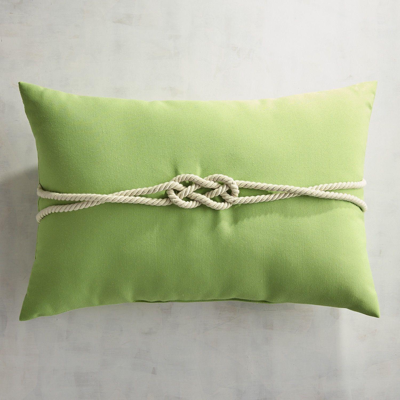 Cabana Rope Citrus Lumbar Pillow Green