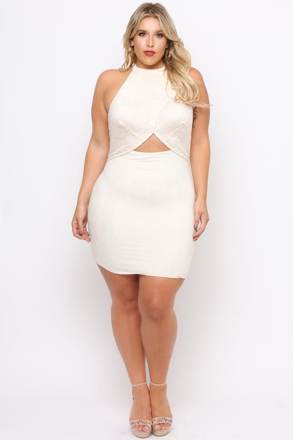 Plus Size Venetian Lace Flap Dress - Ivory | Plus size ...