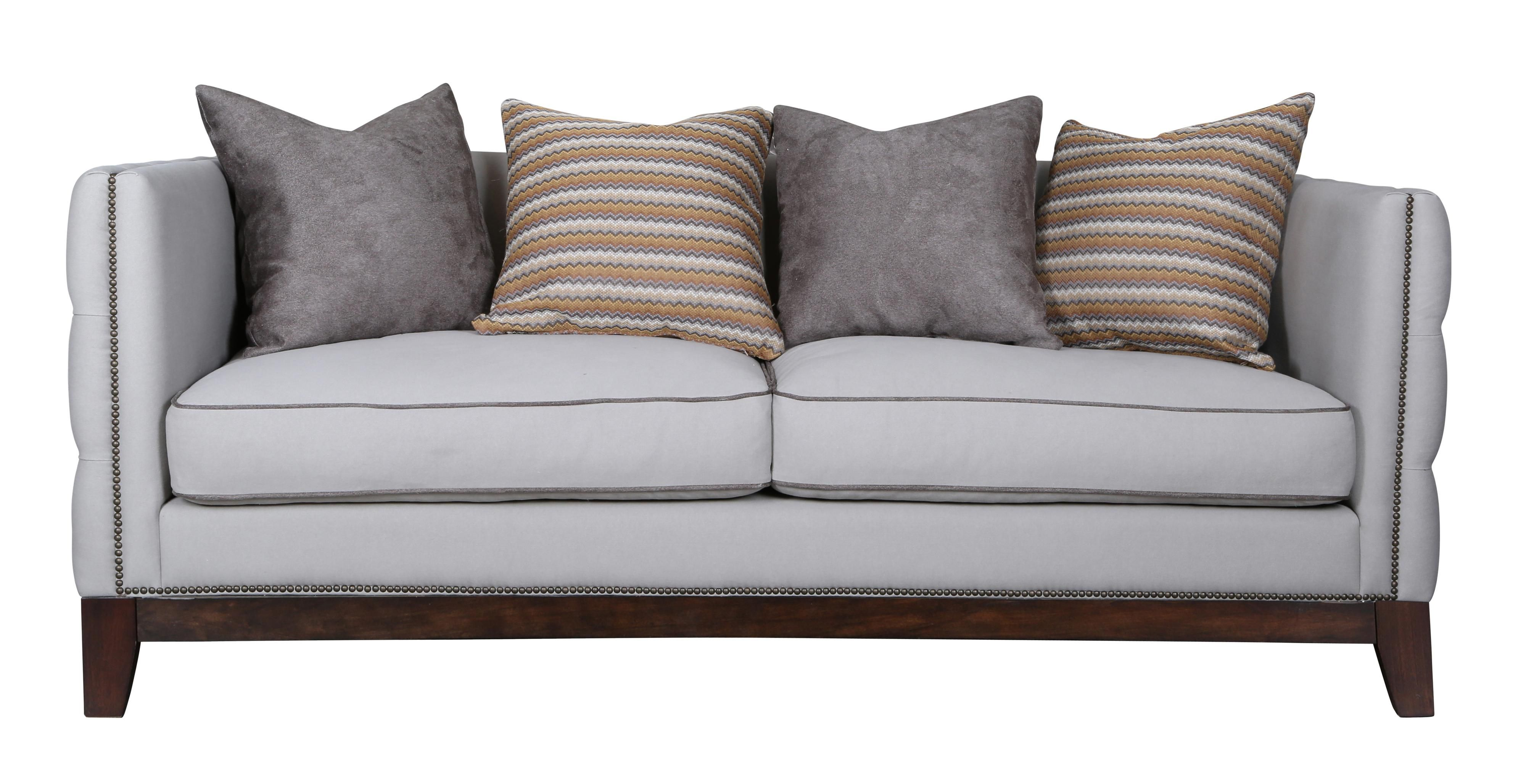 Contemporary Sofa With Reversible Seat Cushion And Tufted Outside Arms