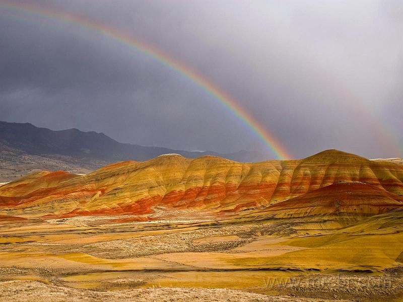 Rainbow Over the Painted Hills, Oregon