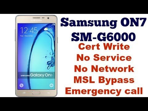 Samsung Galaxy ON7 SM-G6000 No Service Fixed By GsmMarhaba