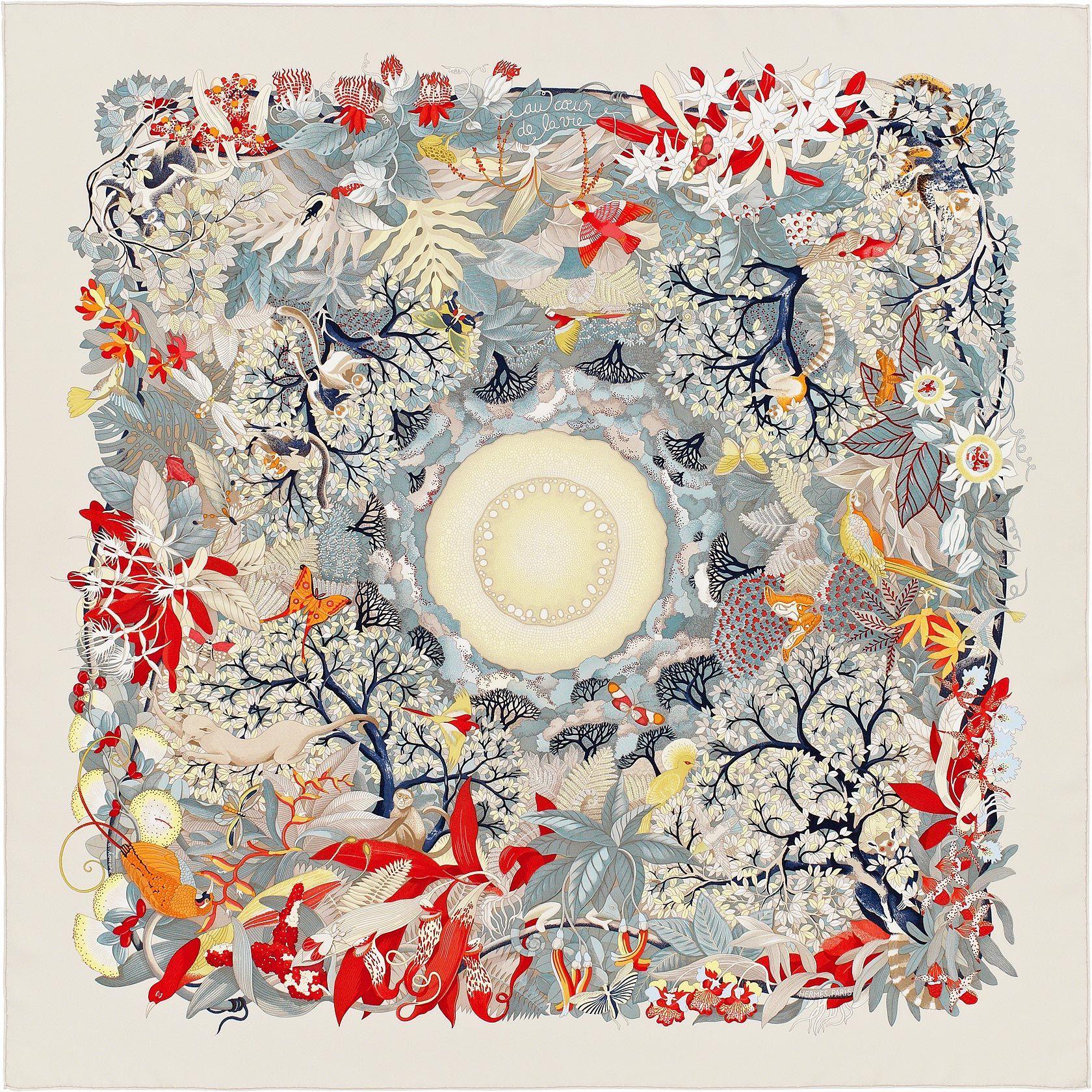 Beautiful And Mesmerizing Scarf 90 Hermes Au Cœur De La Vie