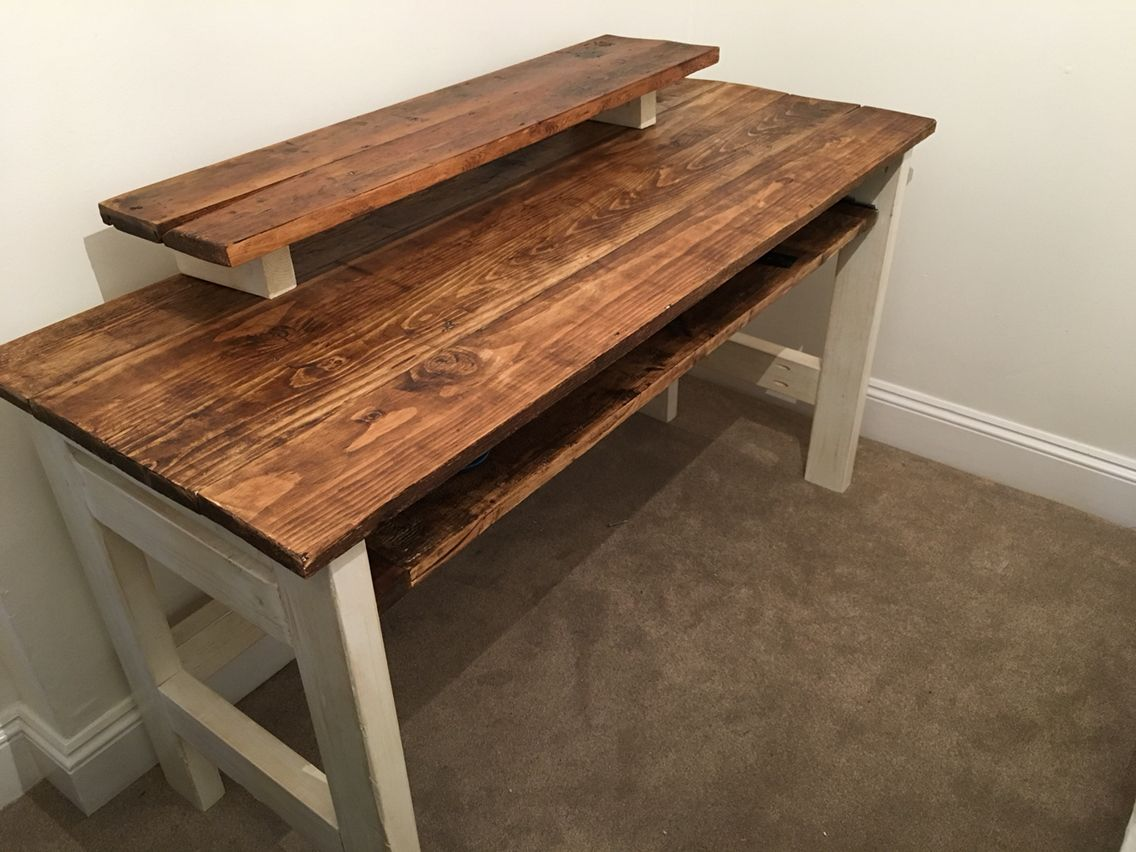 Home Music Studio Desk Diy With Sliding Music Keyboard All Made