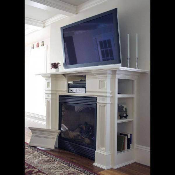 Image Result For Cable Box Built Into Fireplace Mantel